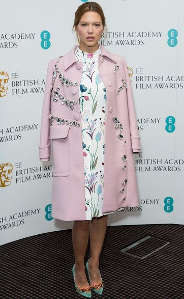 The Look | Lea Seydoux's Luxe Combo of Florals, Crystals and Satin - NYTimes.com #blueisthewarmestcolour