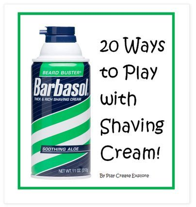 » Pinterest Pin of the Week:  20 Ways to Play with Shaving Cream