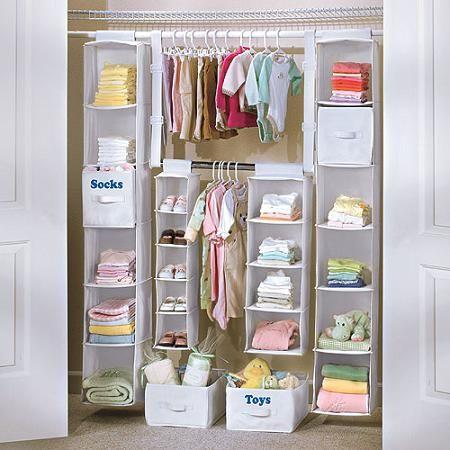 Organizar el armario del bebé: