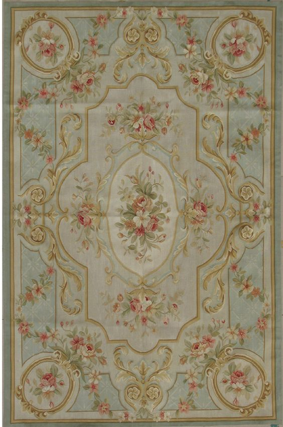french rugs antique | Silk Aubusson rug | French rugs