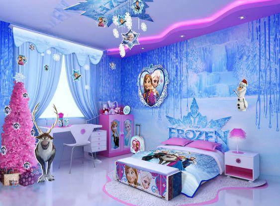 Con soli 130 euro è possibile realizzare una cameretta a tema Frozen per far felice la vostra bambina. Tante idee diverse per budget diversi per una stanzetta in stile Frozen
