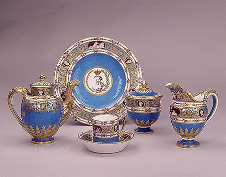 Pieces from the Cameo Service 1778-1779 Sevres Porcelain Factory