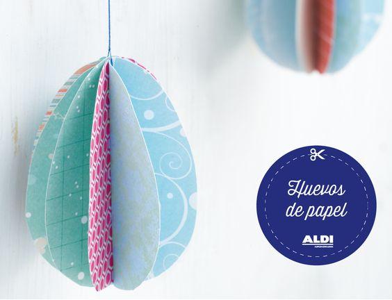 ¡Diviértete haciendo huevos de papel muy coloridos! ¡Y que se note que estamos en Pascua! #DIY