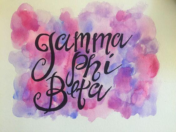 Gamma Phi Beta Watercolor Painting
