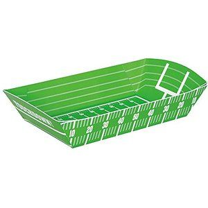 Football Field Paper Food Trays, 4ct