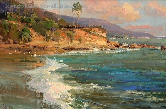Seaside (Laguna) - Oil by Kathryn Stats