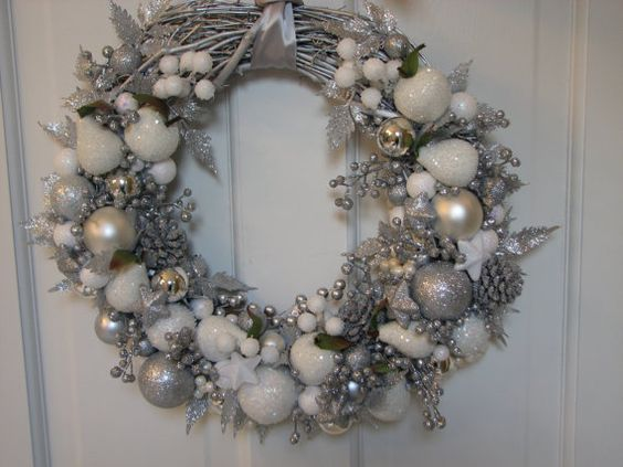 White Christmas Holiday And Ornaments On Pinterest