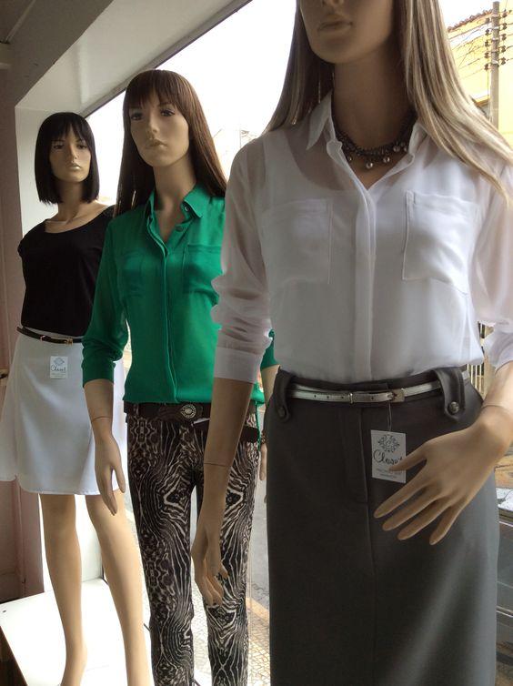 Vitrine Closet Mulher! Saia, top, camisa, calça estampada e acessórios.  www.facebook/closetmulher