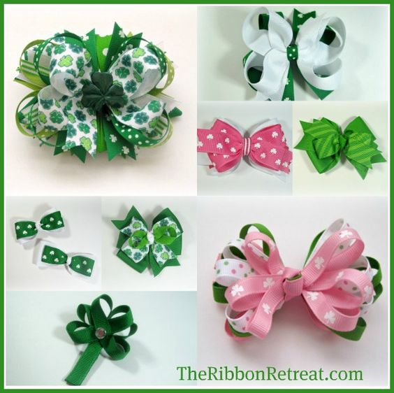 Bows, Different Styles And St. Patrick's Day On Pinterest