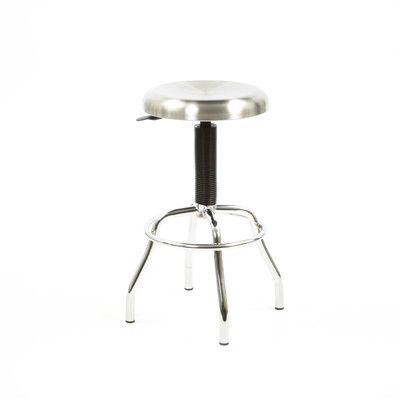 New Spec Workstool 01 Adjustable Work Stool with Swivel Seat in Chrome | AllModern