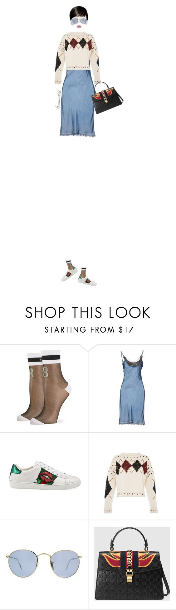 """Senza titolo #1401"" by bananakill ❤ liked on Polyvore featuring Stance, Gucci, Isabel Marant, Ray-Ban and Lime Crime"