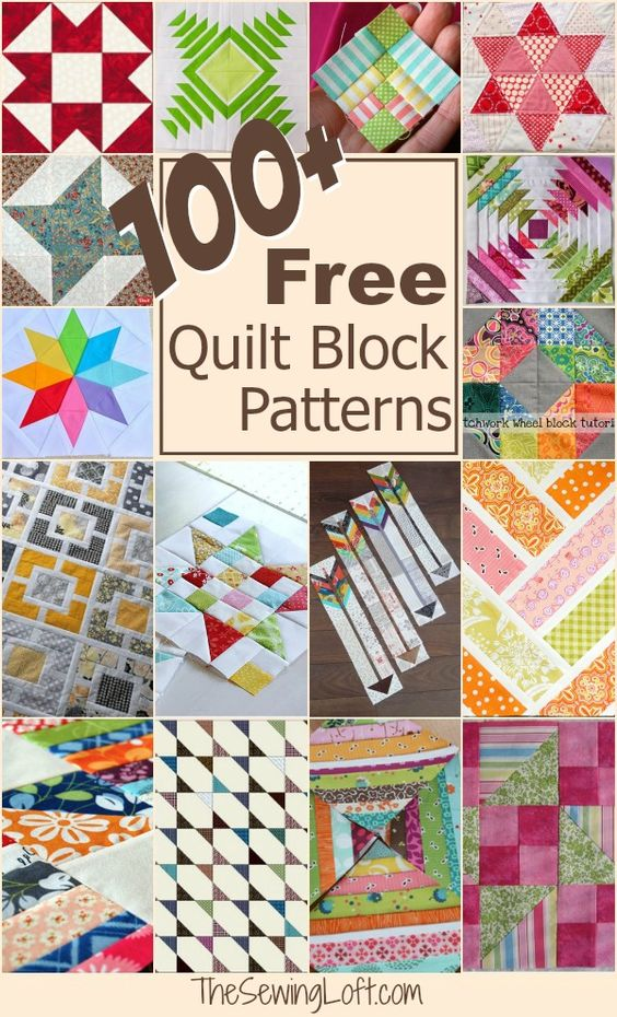 Keep your creative juices flowing with over 100 free quilt blocks rounded up in one place. The Sewing Loft: