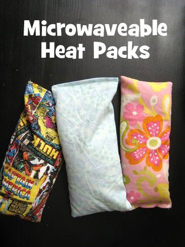 microwaveable heat packs to make for Christmas gifts - these are simple to sew and are invaluable at our house. One Christmas, this was all my kids wanted for their gift.: