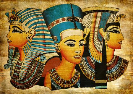 Egyptian Art, King Tutankhamun, Nefertiti, and Cleopatra