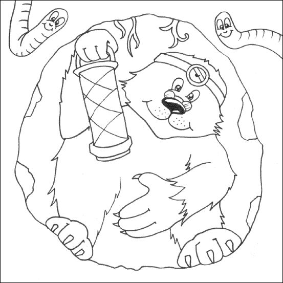 Mole colouring over een kleine mol pinterest for Mole day coloring pages