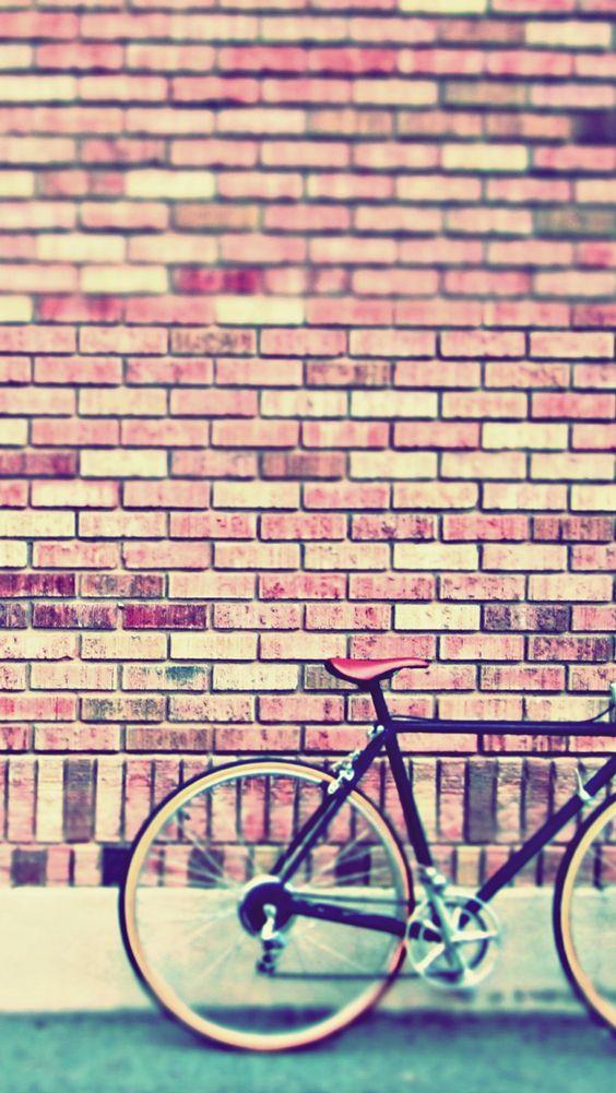 Retro Bicycle Illustration iPhone Wallpaper / iPod Wallpaper HD ...
