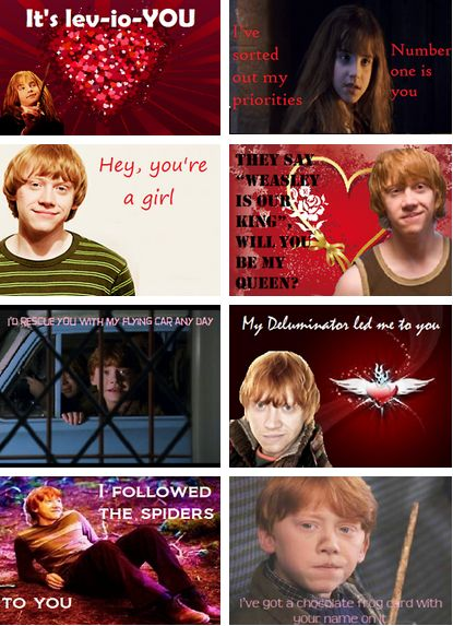 GIVE ME ALL THE HARRY POTTER VALENTINES