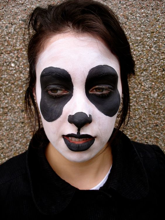 Panda Face Paint | Halloween Makeup | Pinterest | Theater Makeup | Pinterest | Halloween ...