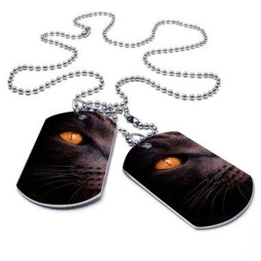 Plaque militaire et collier chat goran