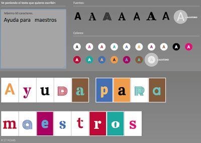 AYUDA PARA MAESTROS: Type A4 - Herramienta para hacer carteles de una letra por hoja