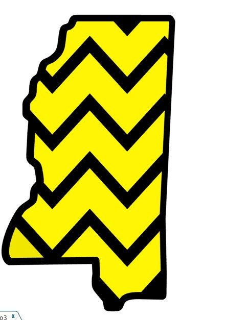 Mississippi Outline Decal with Chevron 3 default sizes and custom sizes available Southern Miss Decal, Computer Decal, Car Decal by FransEverythingShop on Etsy