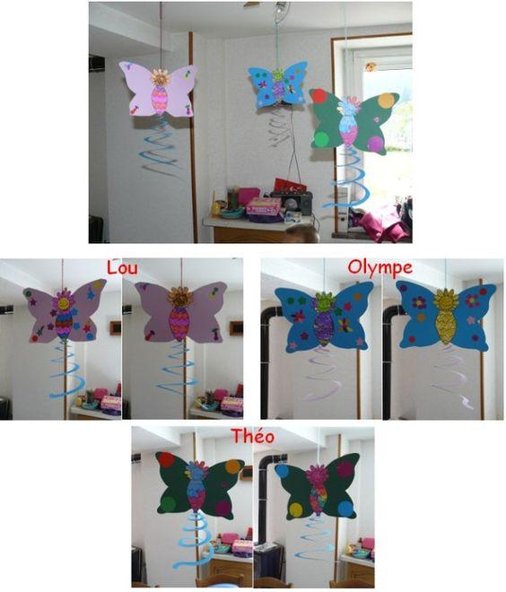 mobile papillon pour f ter le printemps printemps pinterest animaux mobiles et papillons. Black Bedroom Furniture Sets. Home Design Ideas