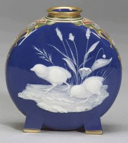 Minton Porcelain Pate sur Pate Moon Vase: