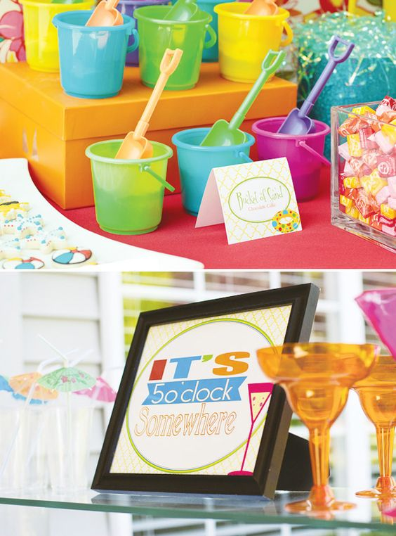 Adults Kids Welcome Summer Party Candy Bars Colors
