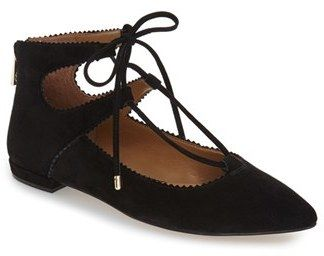 Women's Arturo Chiang 'Kadence' Pointy Toe Ghillie Flat