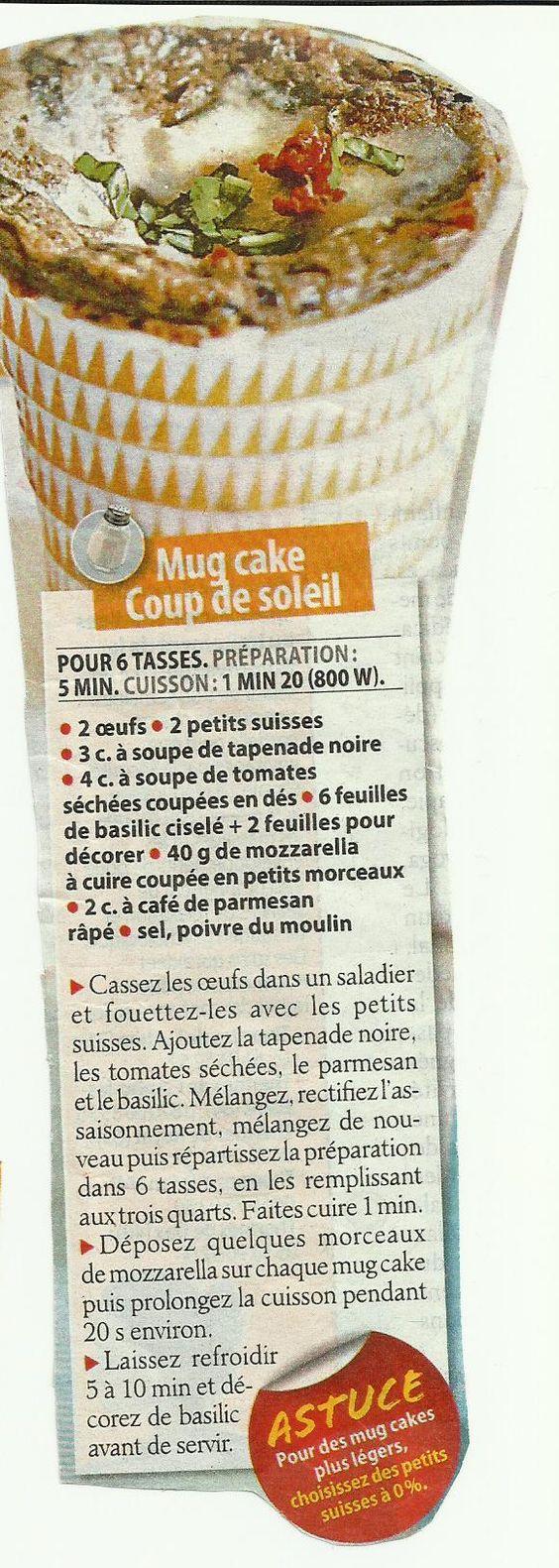 Mug cake coup de soleil