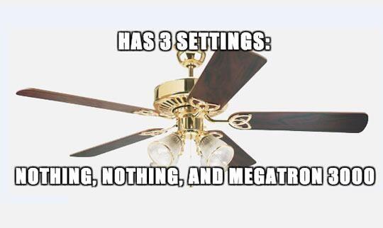 Every ceiling fan.