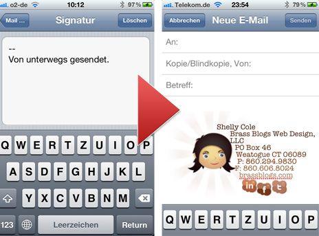 HTML-Signatur für die Mail-App