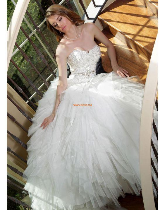 Glamorös & Dramatisk Skiktad Dragkedja Bröllopsklänningar 2014