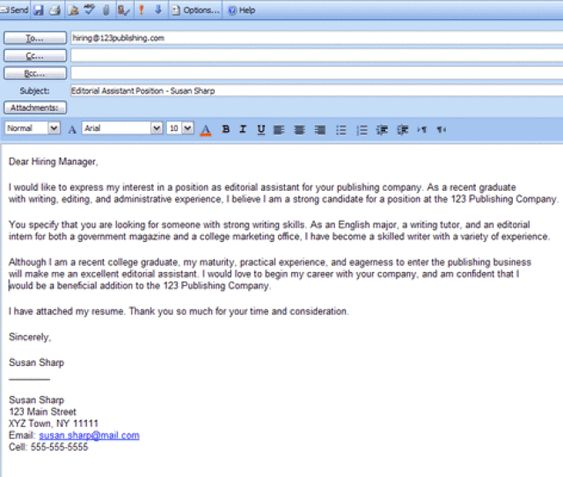 Best Formats for Sending Job Search Emails Easy, Cover letter - Cover Letter Format Email