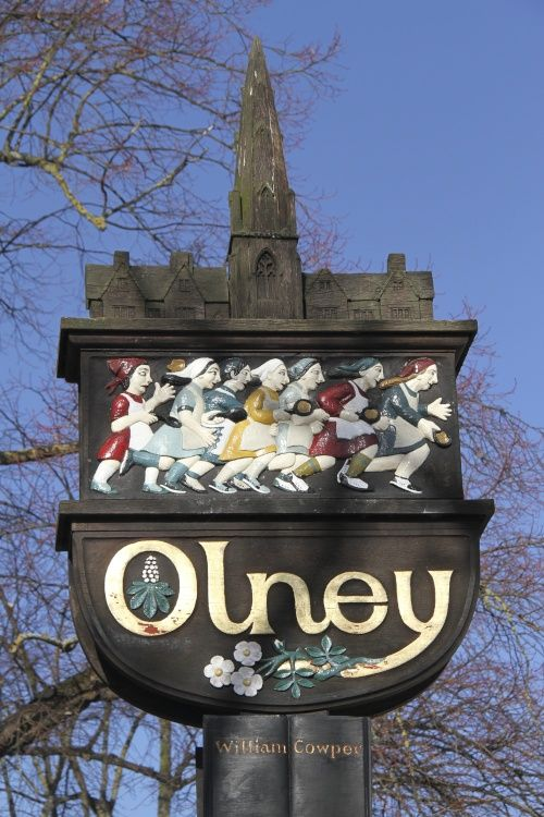 Olney is a tranquil place set peacefully beside the River Ouse. The High Street is lined with gracious properties mostly of the 18th century of which many are now listed.Stock photo of Olney, Buckinghamshire by Jack Rickard - Pictures of England