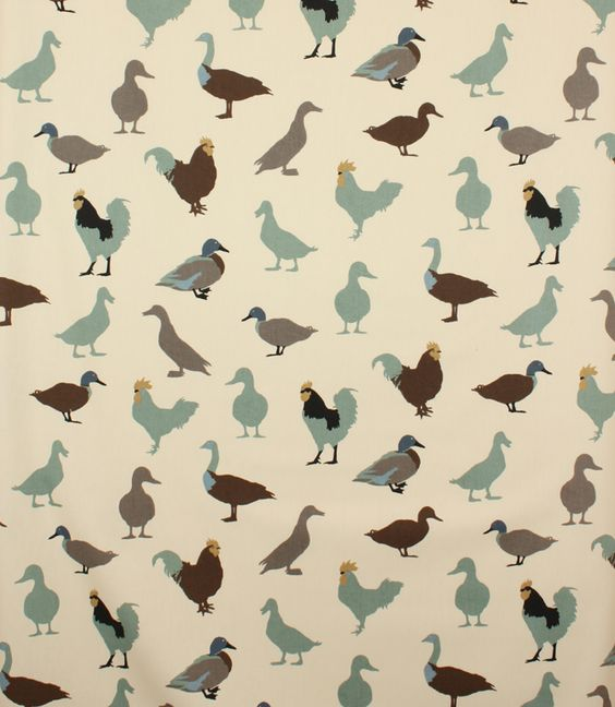 Cock a Leekie Patterned Fabric | Contemporary Fabrics | Just Fabrics