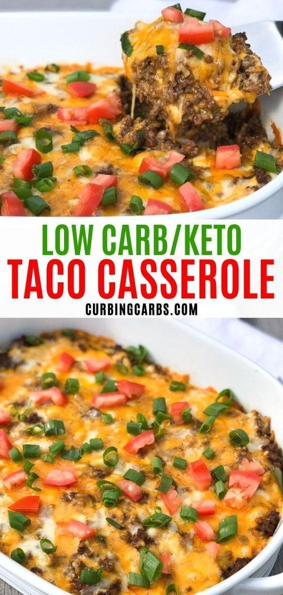 Cheesy Keto Taco Casserole