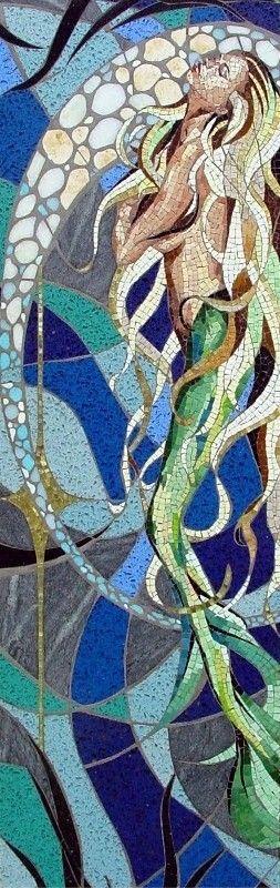 beautiful  turquoise and mosaics on pinterest Mermaid Mosaic Tile mermaid scale bathroom tile