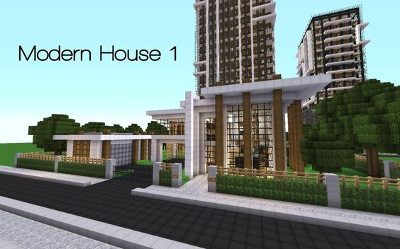 Modern minecraft house minecraft pinterest for Modern house 49