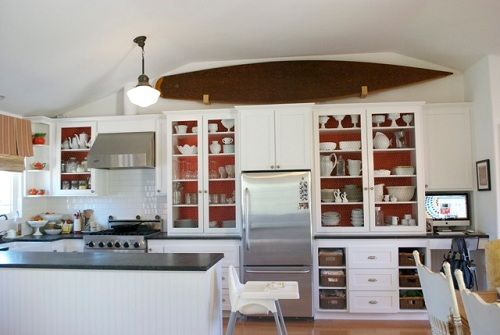 more open shelving - two tone style
