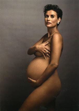 Annie Leibovitz portrait of Demi Moore used on the cover of Vanity Fair