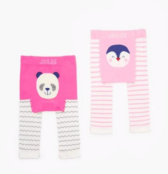 2er-Pack Strick-Leggings LIVELY Pinguin & Panda