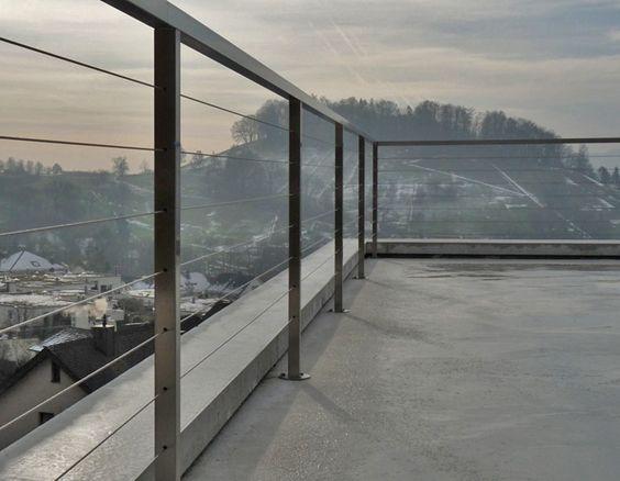 Die besten 25+ Dachterrasse geländer Ideen auf Pinterest - moderne dachterrasse gestalten ein gruner zufluchtsort grosstadt
