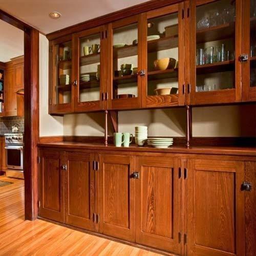 Brown Straight Teak Wood Kitchen Cabinet Rs 2400 Square Kitchen Teak Wood Cabinet Cabinets Furnitur Timeless Kitchen Bungalow Kitchen Craftsman Kitchen