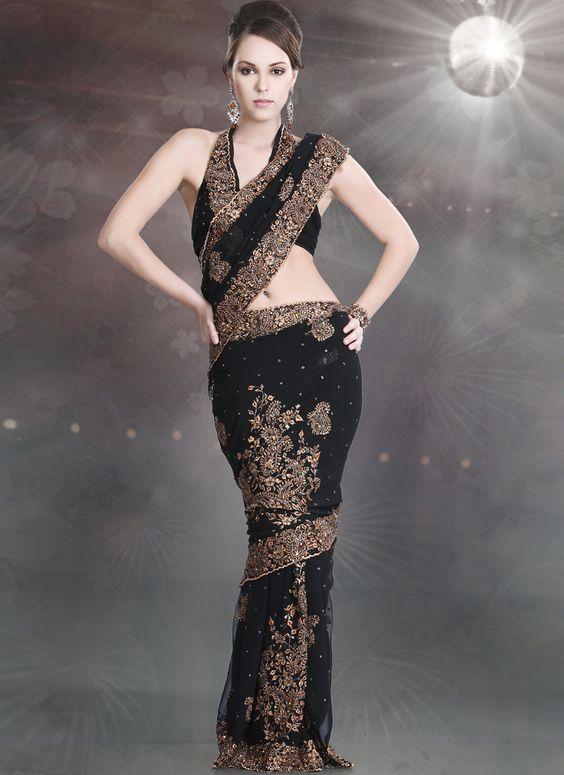 Stunning Black Saree