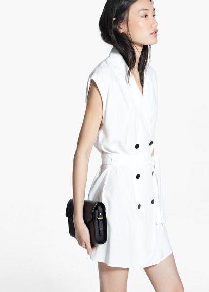 Vestido doble botonadura | MANGO