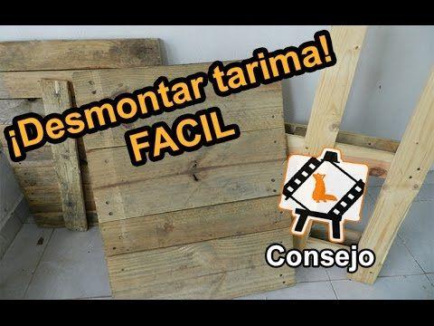Consejo! Cómo desmontar una tarima! (how to dismantle a pallet)