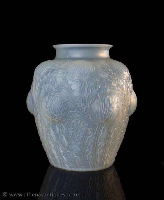 Rene Lalique Frosted Glass Domremy Design Vase c1926