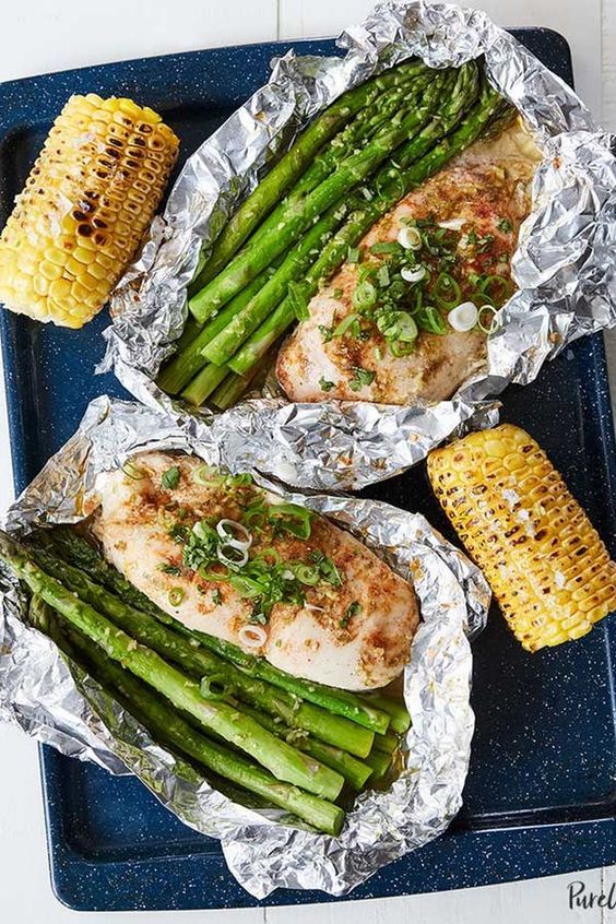 Honey-Lime Chicken And Veggies In Foil