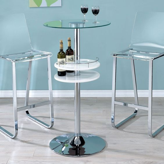 Furniture Of America Clairon Lighted Bar Table   The Furniture Of America  Clairon Lighted Bar Table